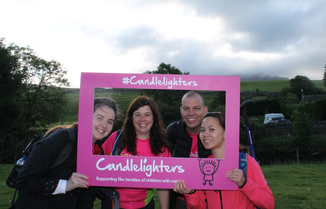 Fundraisers light the way over Yorkshire's Three Peaks